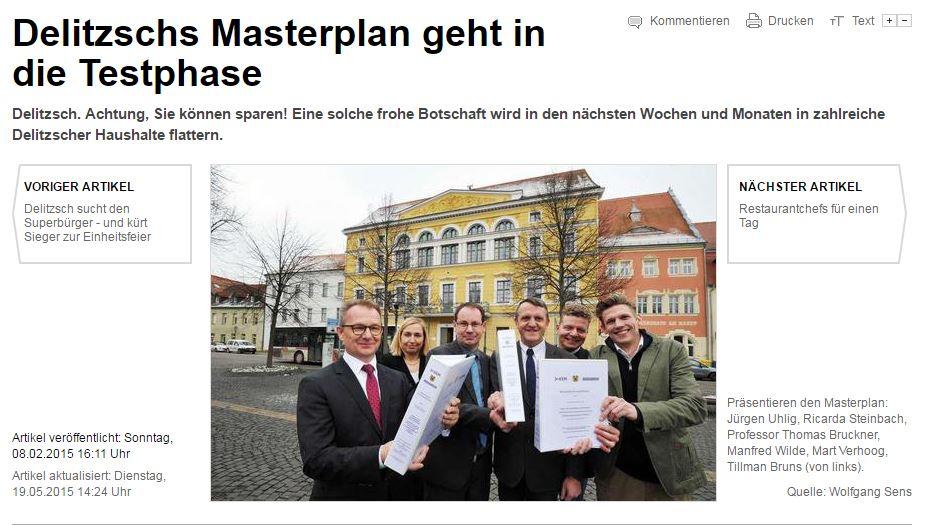 LVZ: Delitzschs Masterplan geht in die Testphase